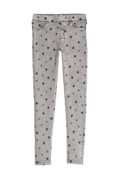 Jersey leggings - Grey/Stars - Kids | H&M CN
