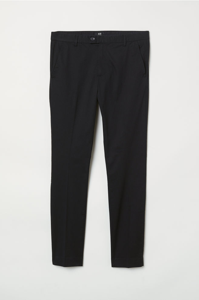 806745759295 Skinny Fit Suit Pants - Black - Men