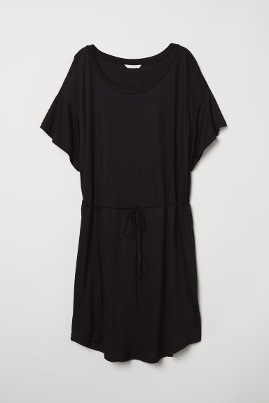 Abito T- shirt con cintura - Nero - DONNA | H&M IT