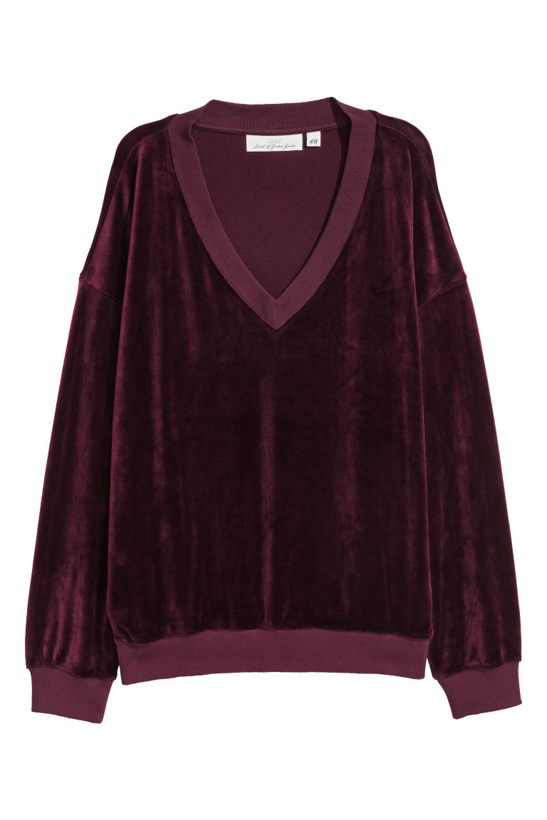 Velours sweater - Paars - DAMES | H&M NL