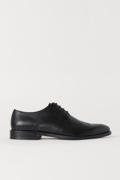 Leather brogues - Black - Men | H&M