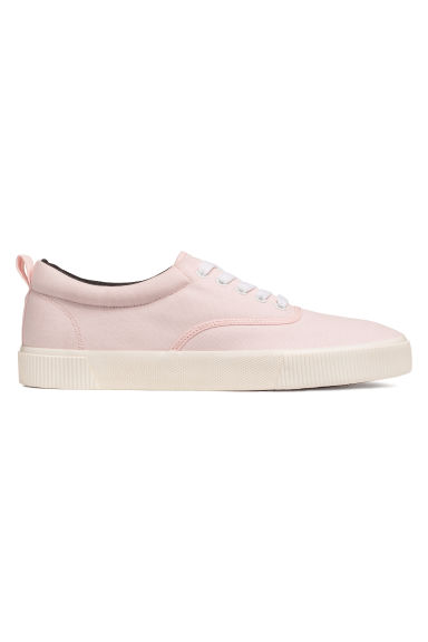 Cotton fabric shoes - Light pink - Men | H&M IN