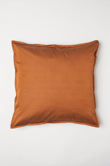 Enfärgat kuddfodral - Mörk orange - Home All | H&M SE