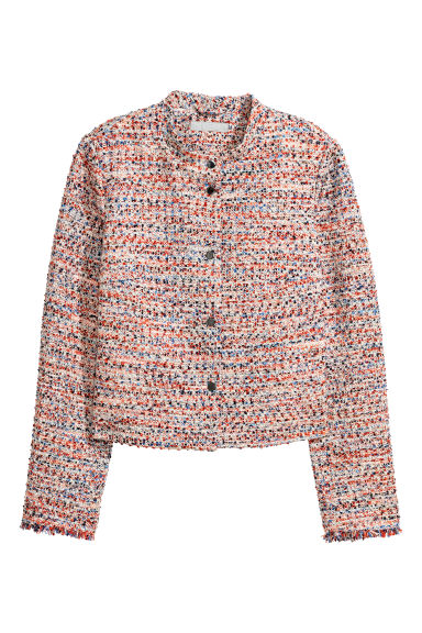 Textured jacket - Orange/Multicoloured - Ladies | H&M