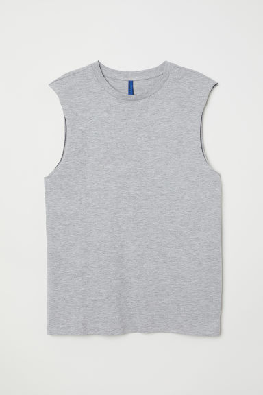 Vest top - Grey marl -  | H&M