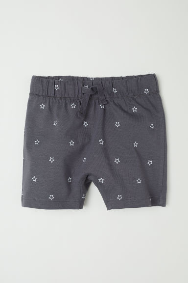 Jersey shorts - Dark grey/Stars -  | H&M CN