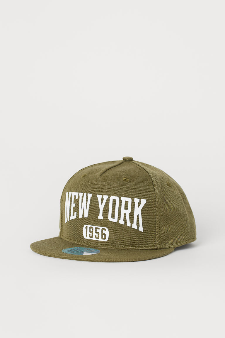 Twill cap - Khaki green/New York - Kids | H&M