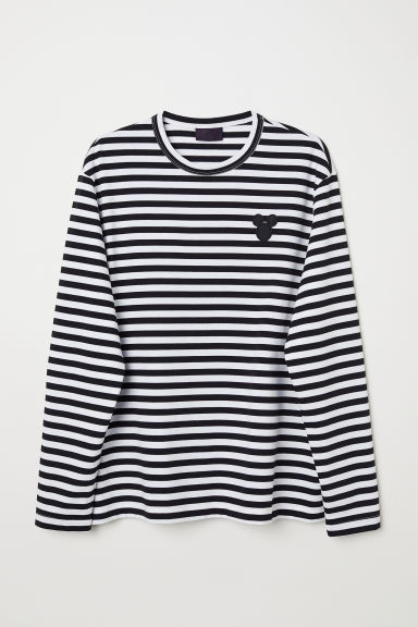 Striped jersey top - White/Mickey Mouse - Men | H&M