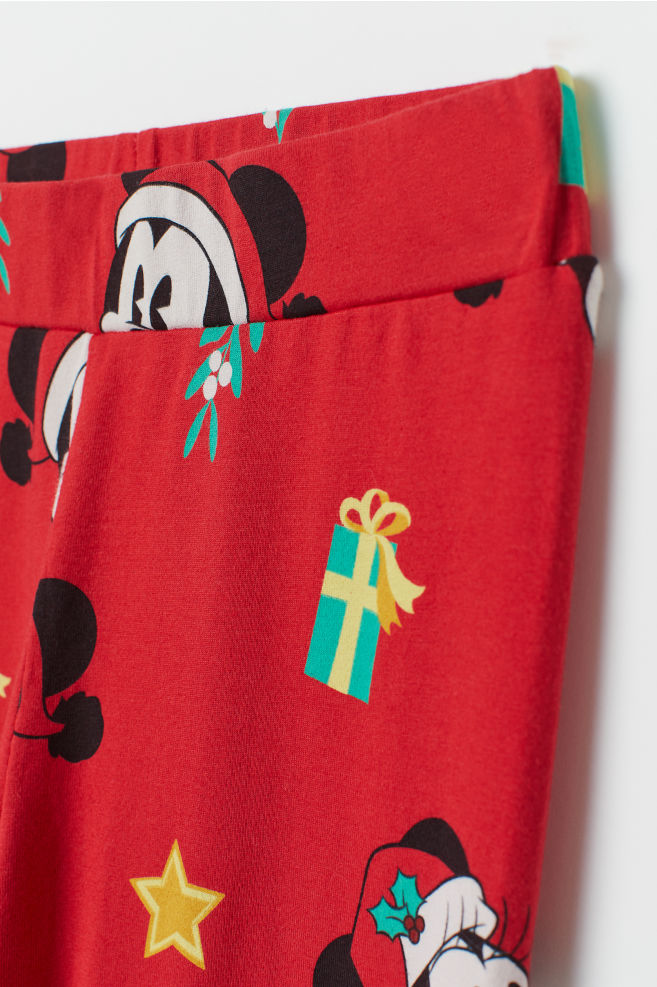 113bb3d6e3715 Patterned Leggings - Red/Mickey Mouse - Ladies   H&M ...