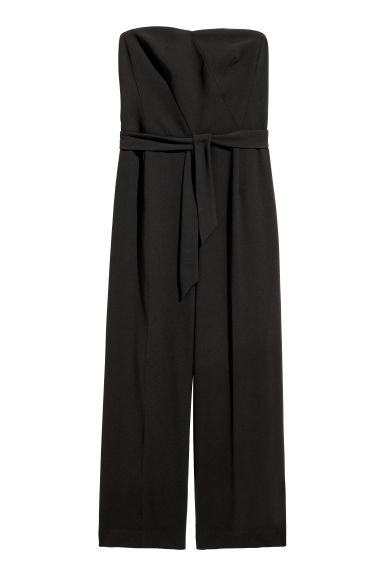 Strapless jumpsuit - Black - Ladies | H&M CN