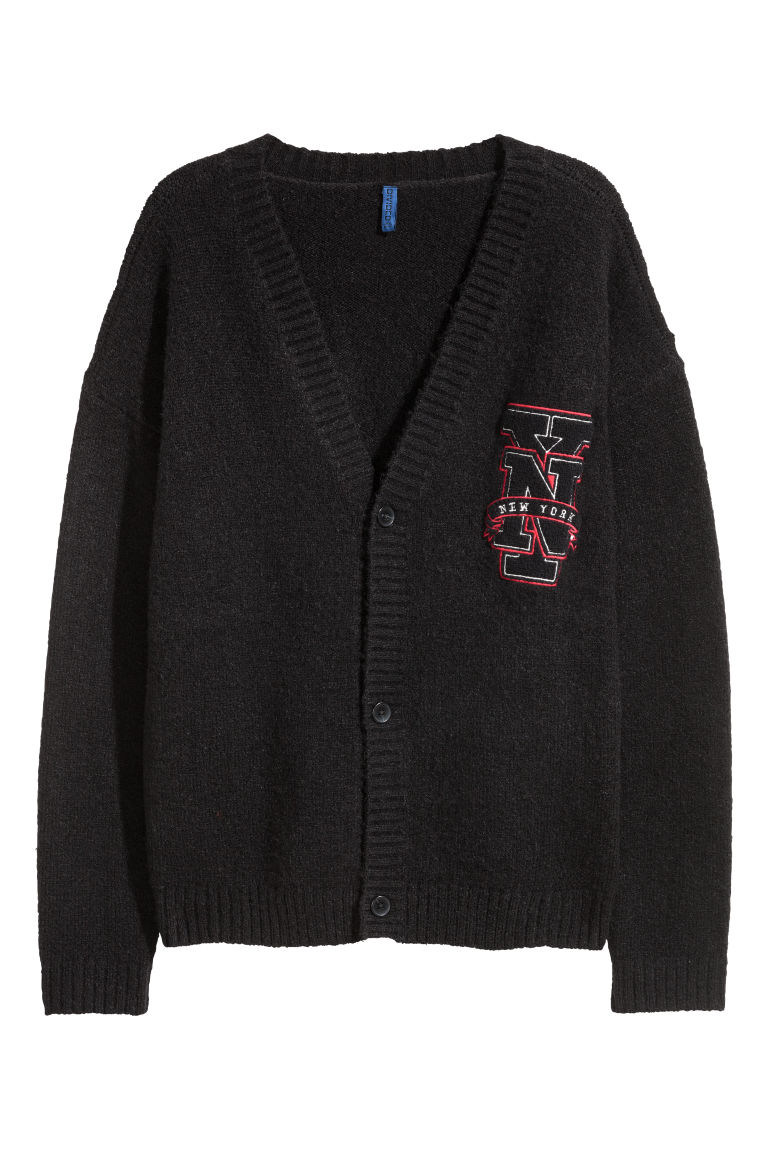 Knitted cardigan - Black - Men | H&M