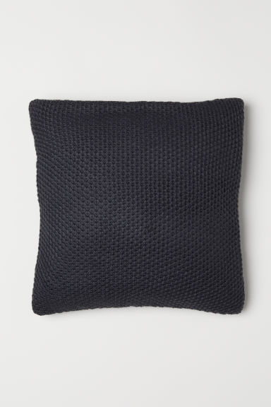 Knitted cushion cover - Dark grey - Home All | H&M GB