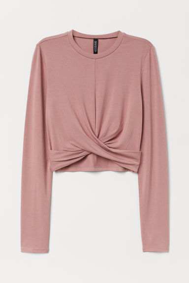 Top corto in jersey - Rosa vintage -  | H&M IT