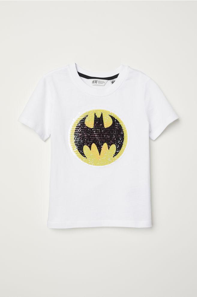 c89846e6e Reversible Sequin T-shirt - White/Batman - Kids | H&M ...