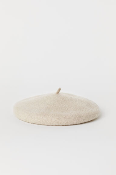 Felted wool beret - Light mole - Ladies | H&M