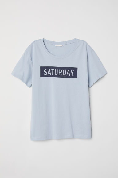 T-shirt - Light blue/Saturday - Ladies | H&M