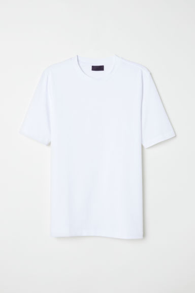 Ribbed T-shirt - White - Men | H&M CN