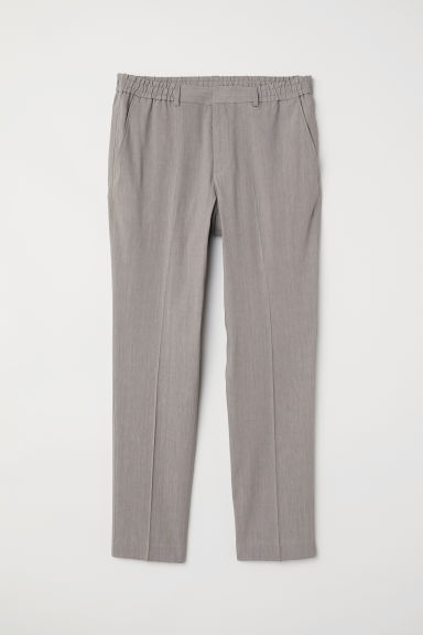 Elasticated trousers - Grey - Men | H&M CN