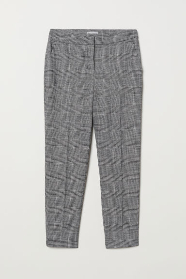 Tailored trousers - Grey/Checked -  | H&M