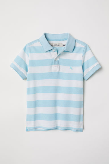 Polo shirt - Blue/Striped - Kids | H&M