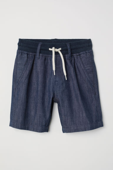 Denim pull-on short - Donker denimblauw - KINDEREN | H&M BE
