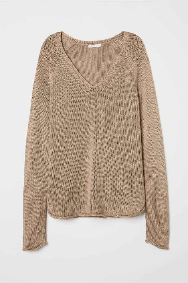 c0aa8b2c49a5d Loose-knit Sweater - Taupe - Ladies