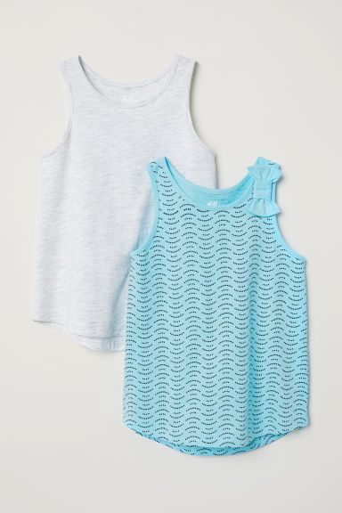 2-pack vest tops - Light turquoise -  | H&M