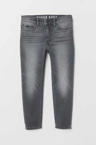 Super Soft Skinny Fit Jeans - Grey - Kids | H&M