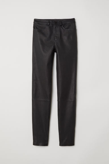 Leather trousers - Black - Ladies | H&M IE