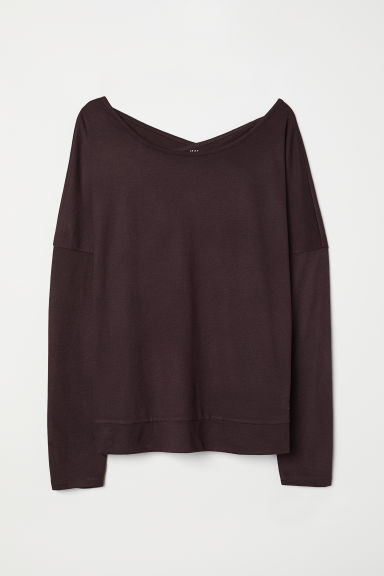 Yoga top - Dark purple - Ladies | H&M