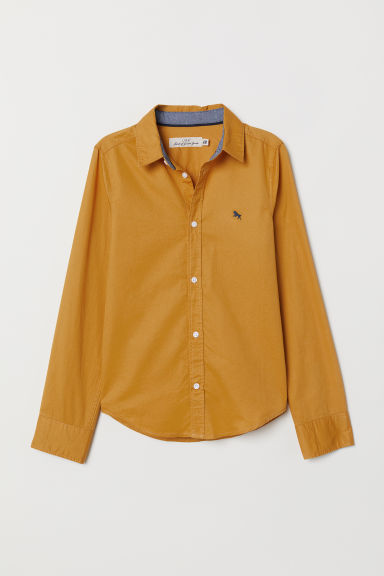 Cotton shirt - Mustard yellow - Kids | H&M