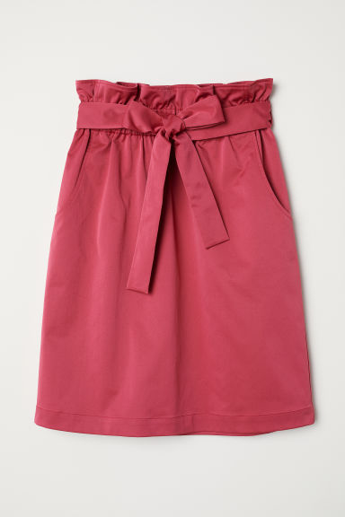 Skirt with a tie belt - Cerise - Ladies | H&M CN