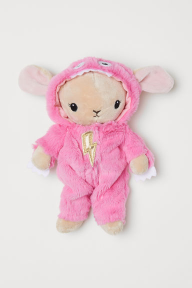 Velour soft toy - Pink/Rabbit - Kids | H&M