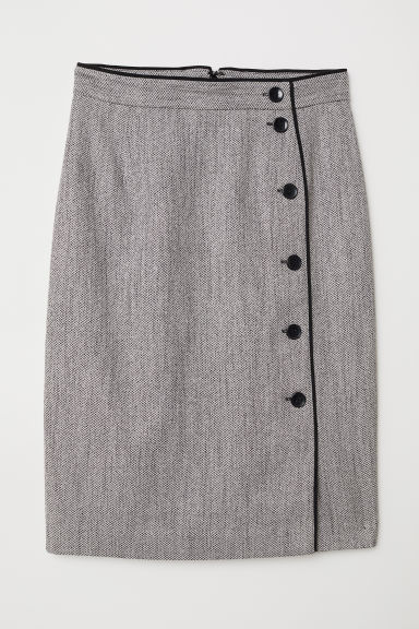 Knee-length skirt - Grey - Ladies | H&M GB