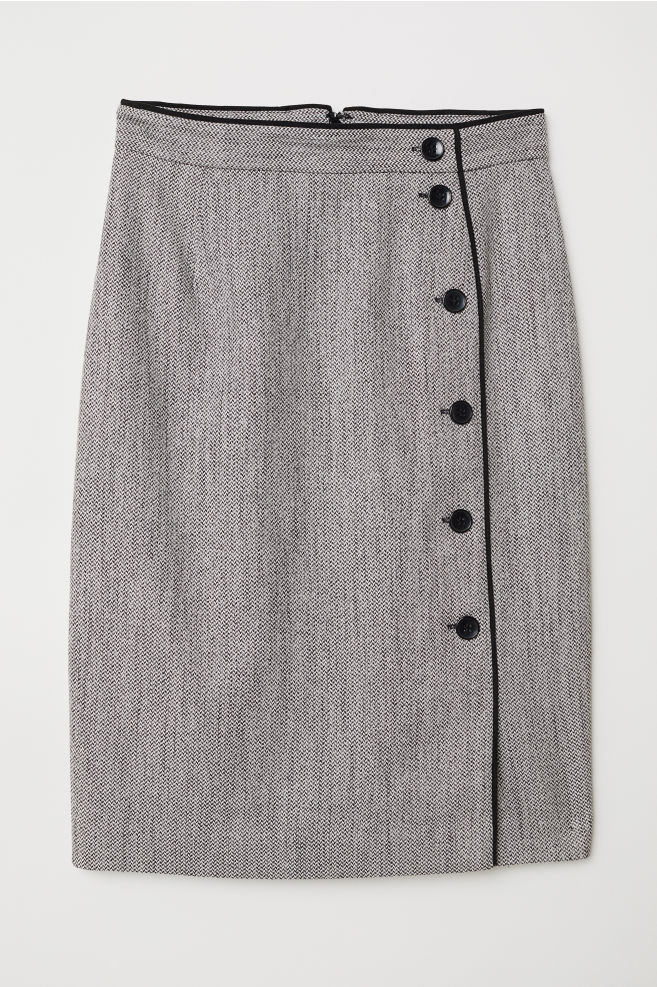 eb3ae6d8b4 Knee-length skirt - Grey - Ladies | H&M ...