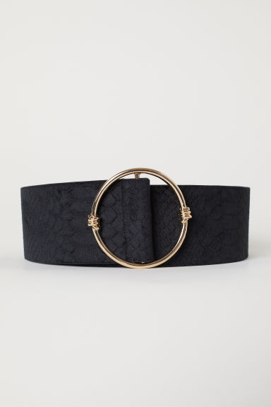 Velvet covered waist belt - Black - Ladies | H&M CN