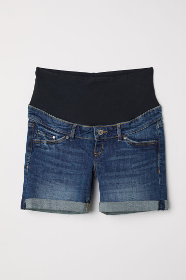 MAMA Denim shorts - Dark denim blue - Ladies | H&M