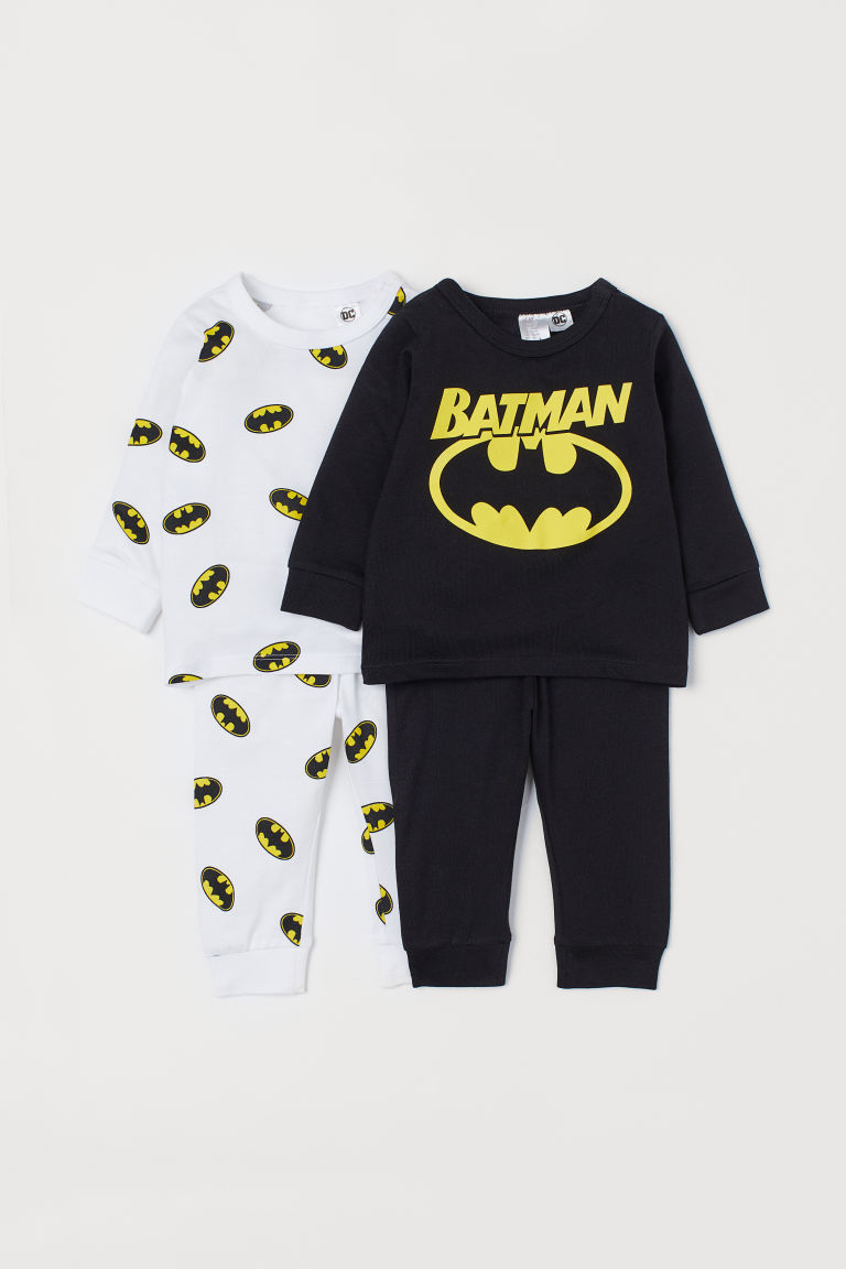 2-pack trikotpyjamas - Sort/Batman - BARN | H&M NO