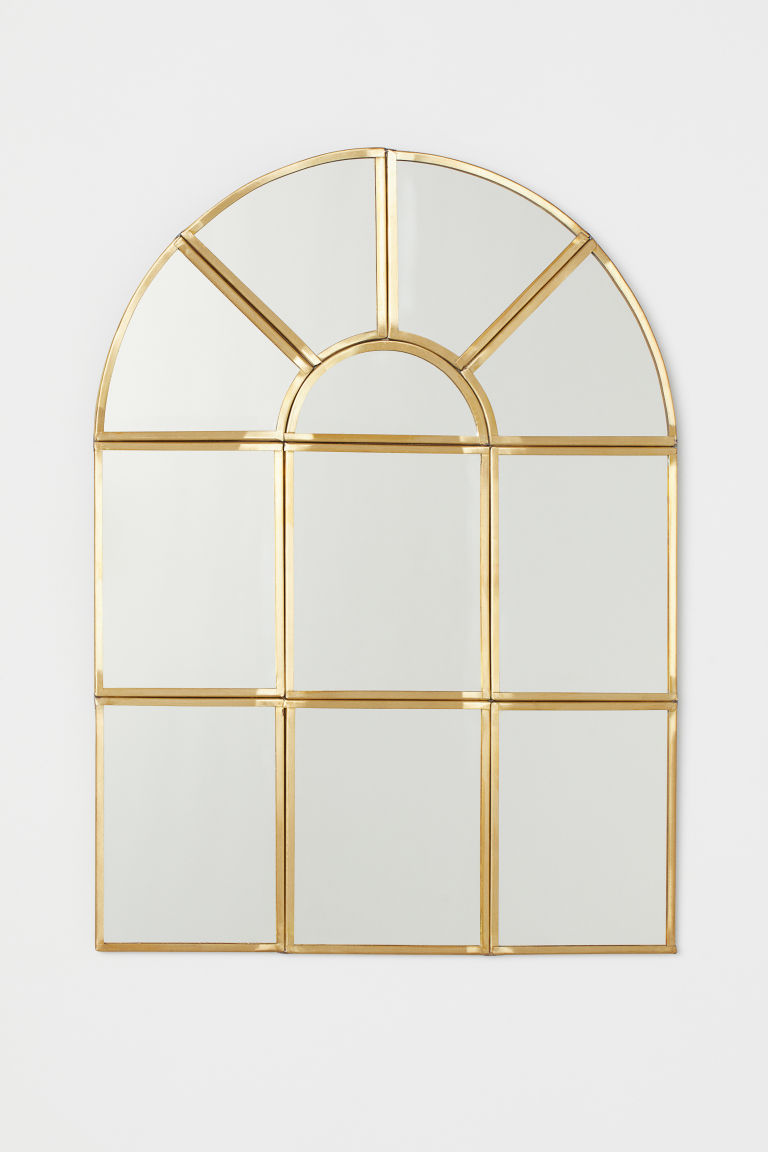 Window-shaped mirror - Gold-coloured - Home All | H&M GB
