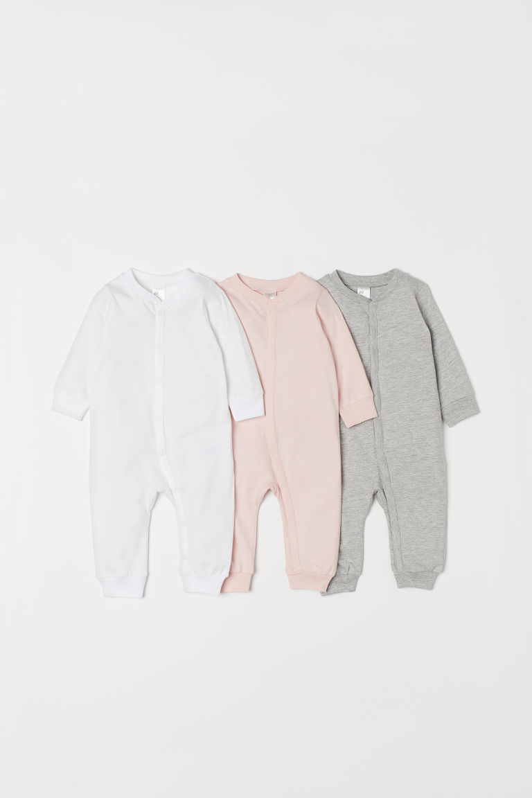 3-pack cotton pyjamas - Pink -  | H&M