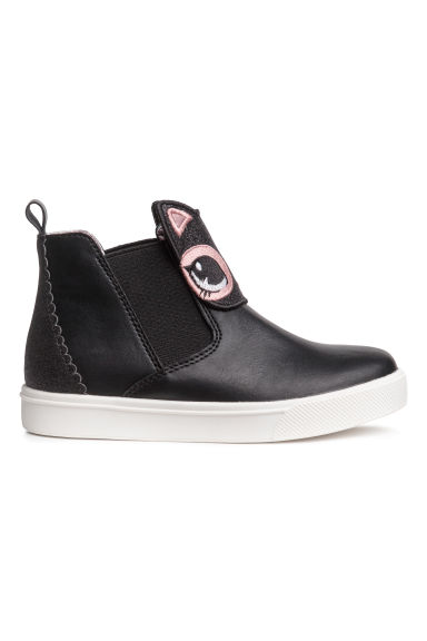 Hi-top trainers - Black/Cat - Kids | H&M CN