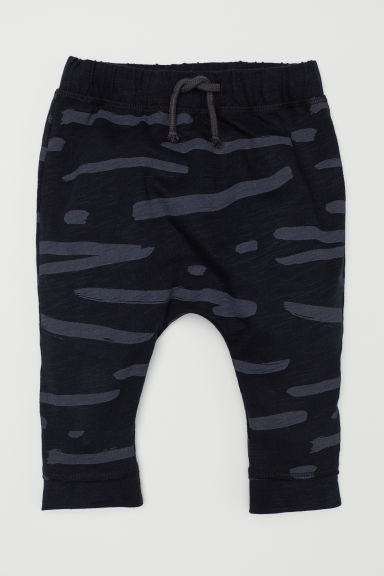 Cotton trousers - Black/Patterned - Kids | H&M