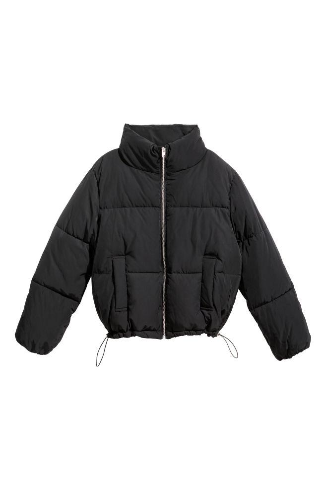 03642a78 Vatteret jakke - Sort - | H&M ...