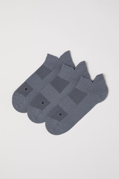 3-pack sports socks - Grey - Men | H&M IN