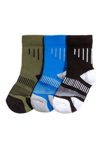 3-pack sports socks - Blue - Kids | H&M CN