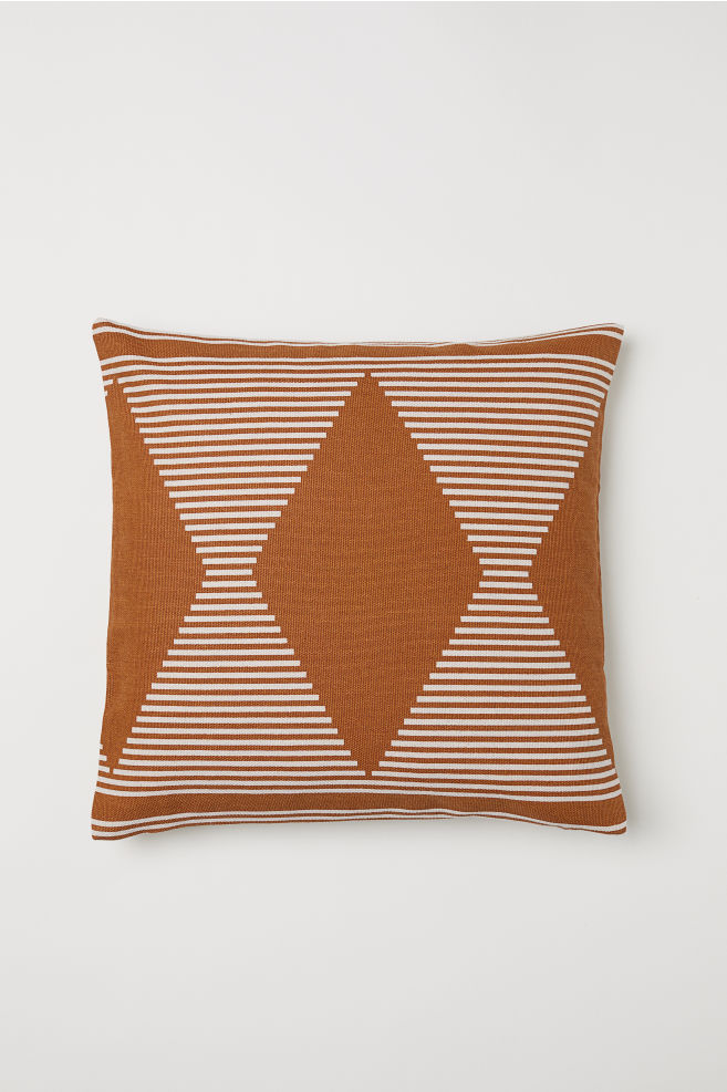 Housse de coussin à motif - Marron/motif - Home All | H&M FR 1