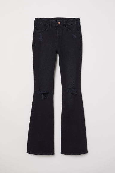 Flare High Jeans - Black denim -  | H&M