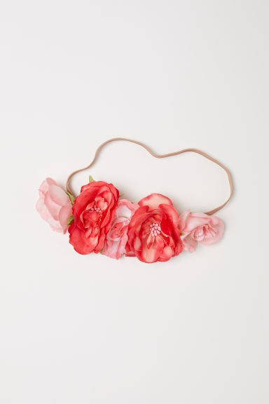 Hairband with flowers - Red/Pink - Ladies | H&M CN