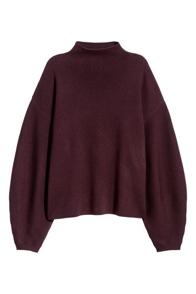 Fine-knit jumper - Burgundy - Ladies | H&M