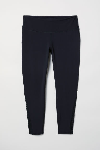 H&M+ Leggings yoga Shape Waist - Nero/fantasia - DONNA | H&M CH